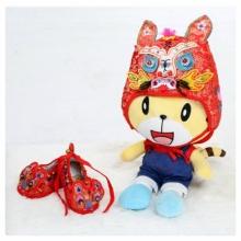 【加租】-精緻古禮虎帽、虎鞋-紅
